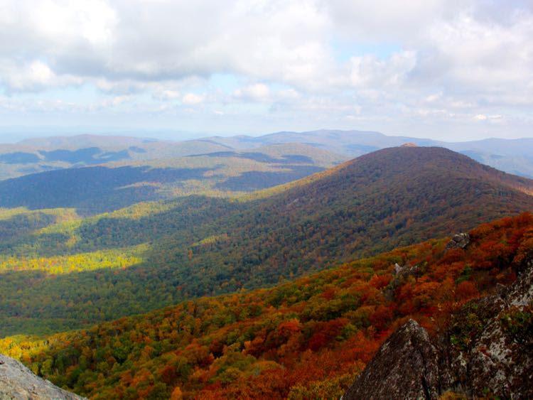 View toward Mary's Rock from the Pinnacle, Shenandoah NP
