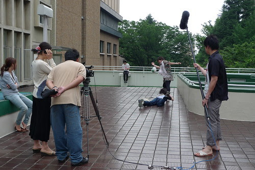 """Filming the climatic catfight of """"3pm"""""""