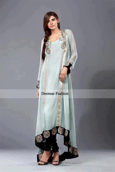 Latest Pakistani Fashion 2016 Light Blue Formal Dress