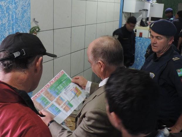 Mapa do tráfico chamou a atenção dos guardas (Foto: Divulgação / Guarda Municipal)