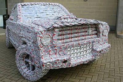 Mustang made from 5,000 cans (2) 2