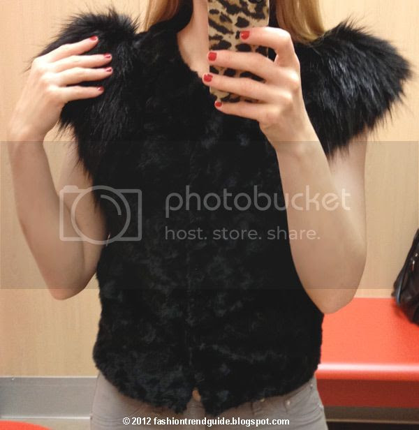 Target Neiman Marcus holiday collection Skaist-Taylor faux fur vest