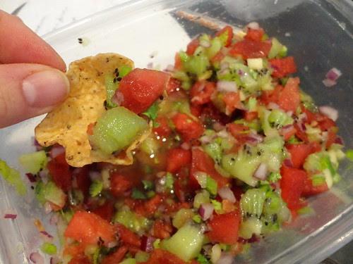 watermelon kiwi salsa! omg.. good!