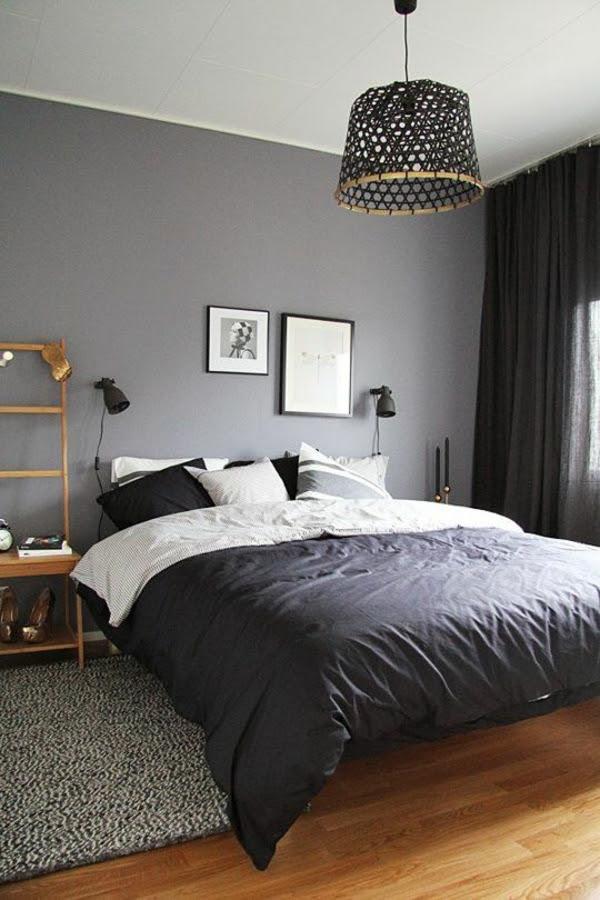designer lampen im modernen schlafzimmer
