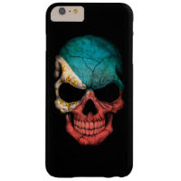 Customizable Filipino Flag Skull Barely There iPhone 6 Plus Case