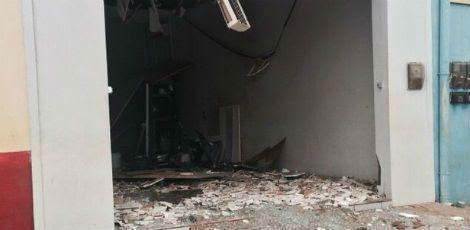 Agência foi explodida na madrugada / Foto: Divulgação/Polícia Militar