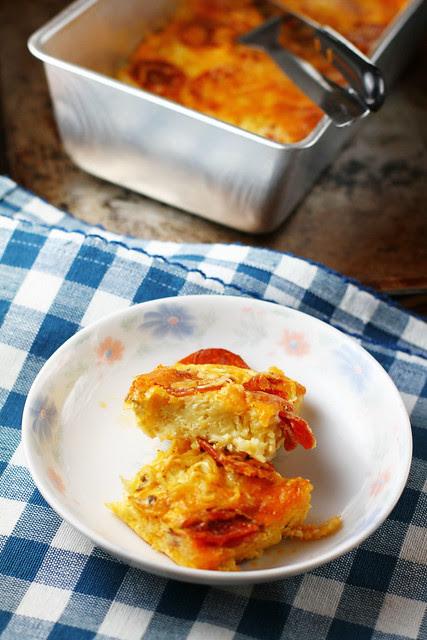 Pepperoni Instant Ramen Casserole