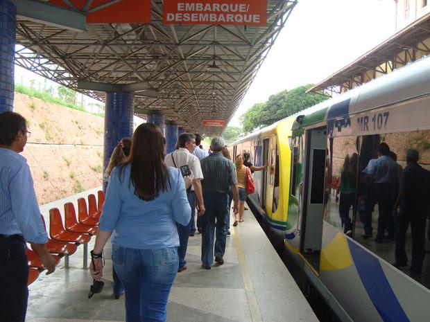 Metrô voltou a funcionar nesta quinta-feira em Teresina (Foto: Divulgação/Irina Coelho/CMTP)