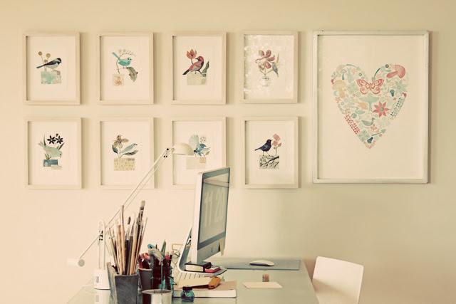 My desk area