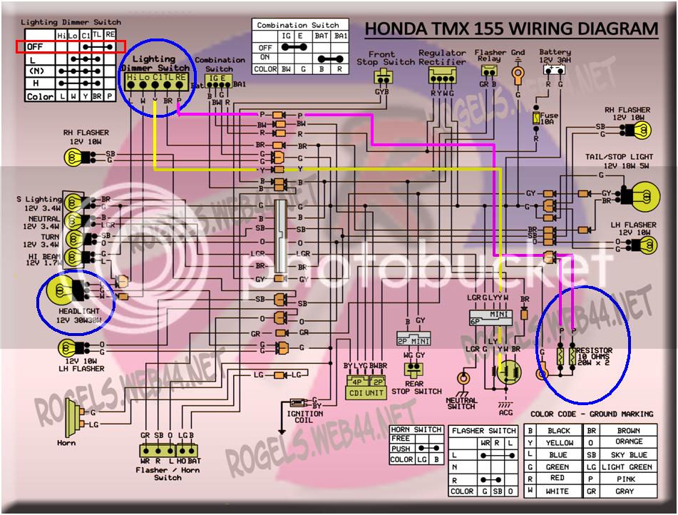 Diagram Wiring Diagram For Honda Tmx Full Version Hd Quality Honda Tmx Diagramjonay Pointru It