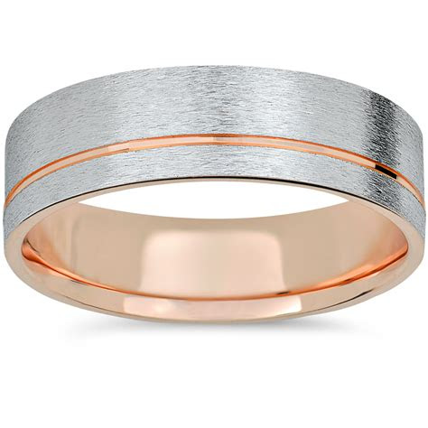 rose gold white gold  tone mm brushed mens