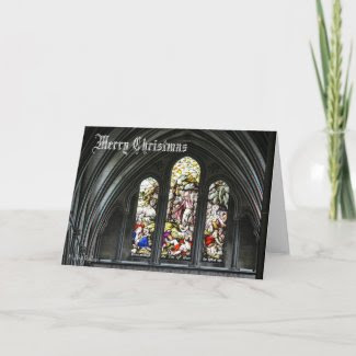 Cathedral Stained Glass - Christmas card