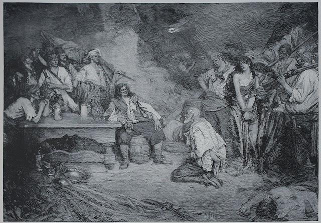 Morgan at Puerto Bello 1668 (illustration by Howard Pyle, 1888)