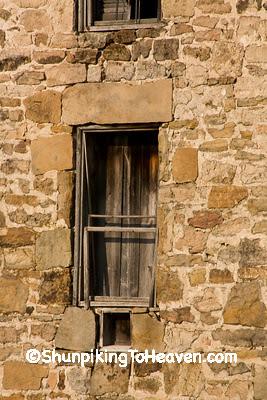 Window of Old Stone Creamery, Sauk County, Wisconsin