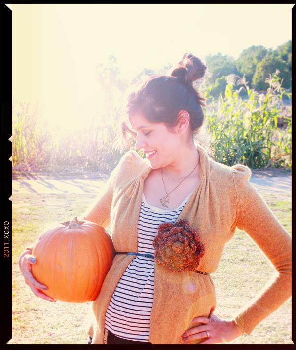 little r's first pumpkin