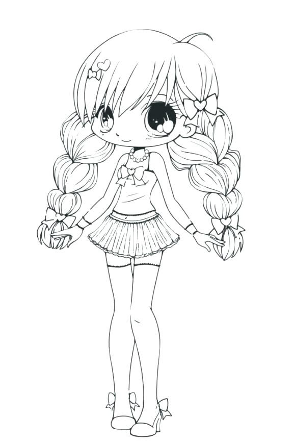 1030+ Cute Anime Coloring Book Picture HD