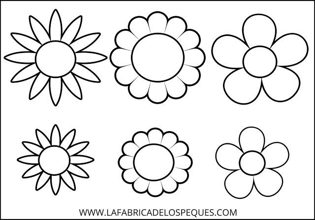 Moldes De Flores Hojas Y Tallos Para Manualidades La Fábrica De