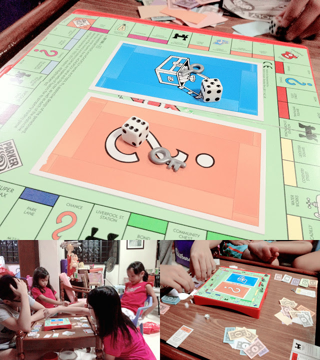 playing tiny monopoly