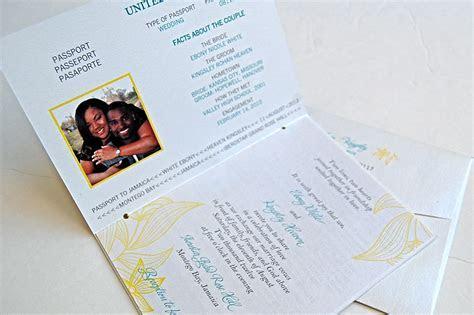 Passport Wedding Invitations   Jamaica Destination Wedding