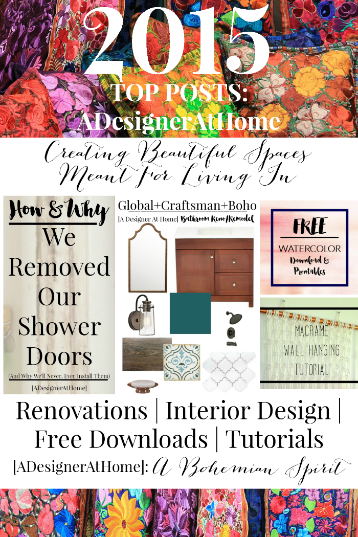 Top Posts of 2015 on A Designer At Home