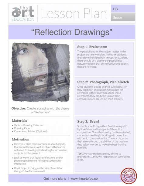 reflection drawings  lesson plan   art  ed
