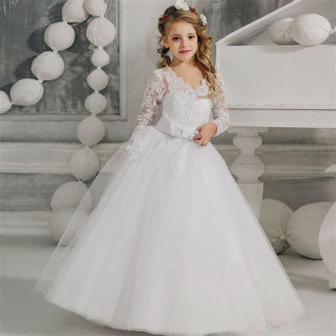Flower Girls Dresses for Wedding White Girls Ball Gown