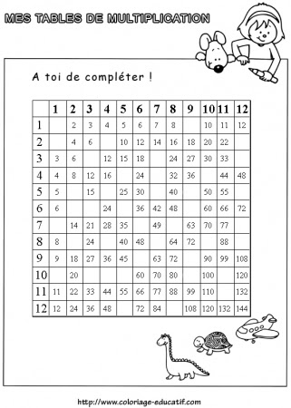 Exercice Table De Multiplication A Imprimer Gratuitement