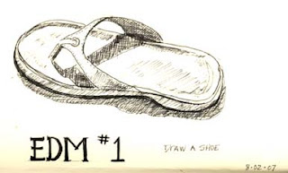 2nd sketch of summer shoes