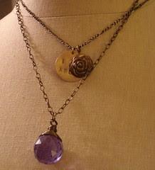 i am abloom + jen's everyday crystal necklace