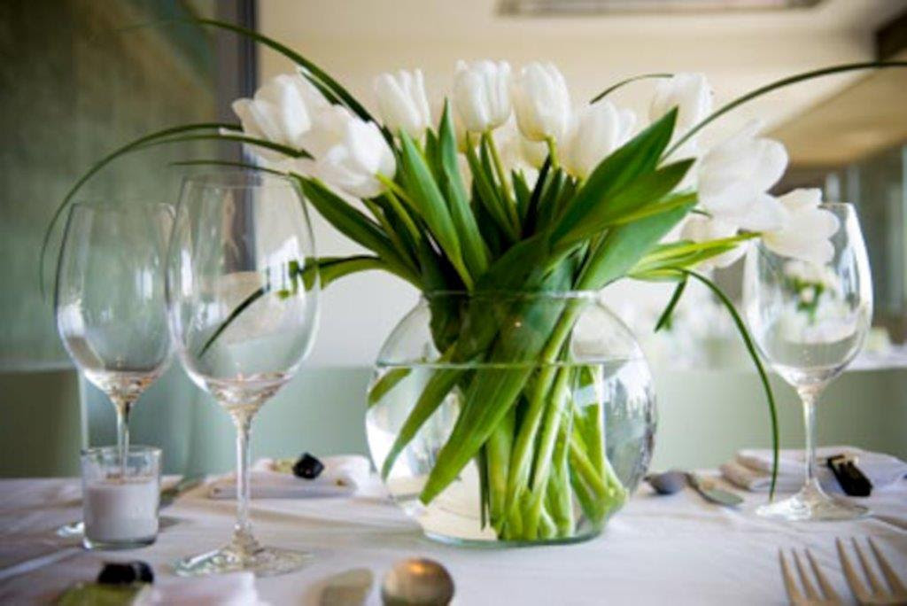 Image result for flowers on the table with lunch