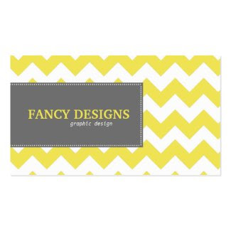 Chic Chevron Stripes Business Card