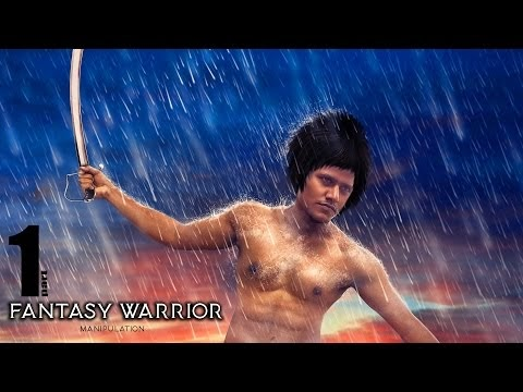 Photoshop Tutorial | Fantasy Warrior Manipulation With Rain Effects | Pa...