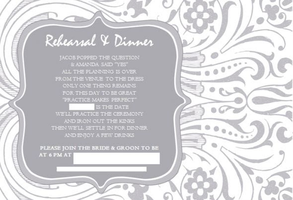 different wedding invitations blog examples of wedding rehearsal