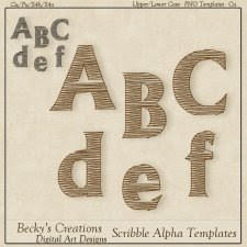 Scribble Alpha Templates - PNG - by Beckys Creations