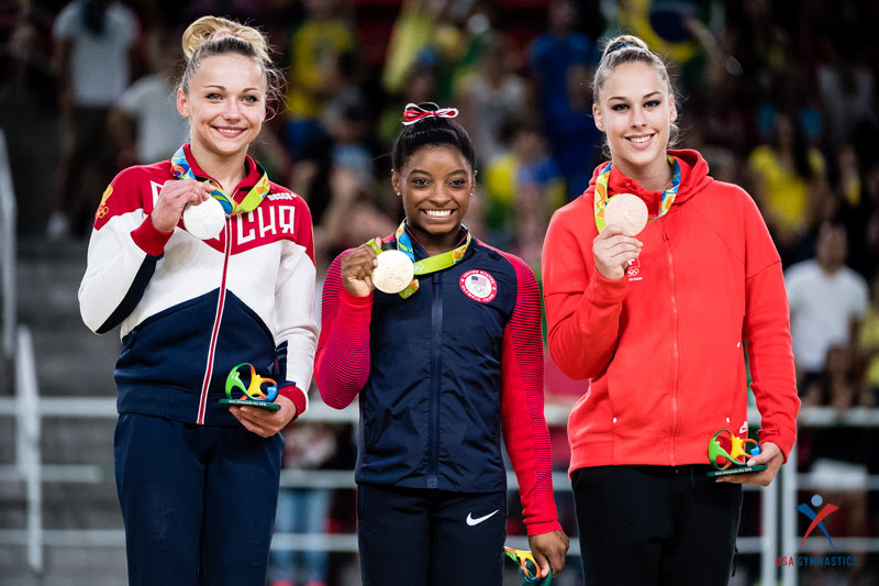 USA Gymnastics: Aug. 14 - Event Finals Day 1 &emdash; Vault medalists