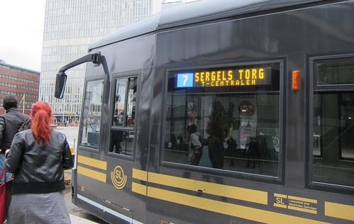 Bussi joka vie Nordiska Museetin kohdalle