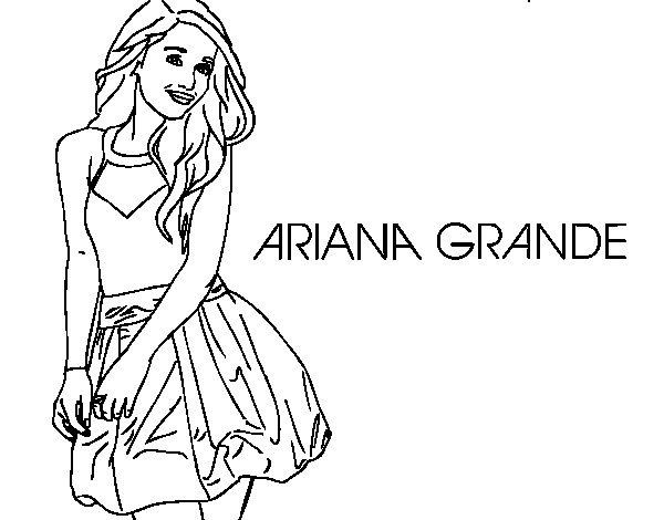 Ariana Grande coloring page  Coloringcrew.com