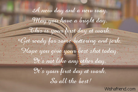 Good Luck Poems For New Job