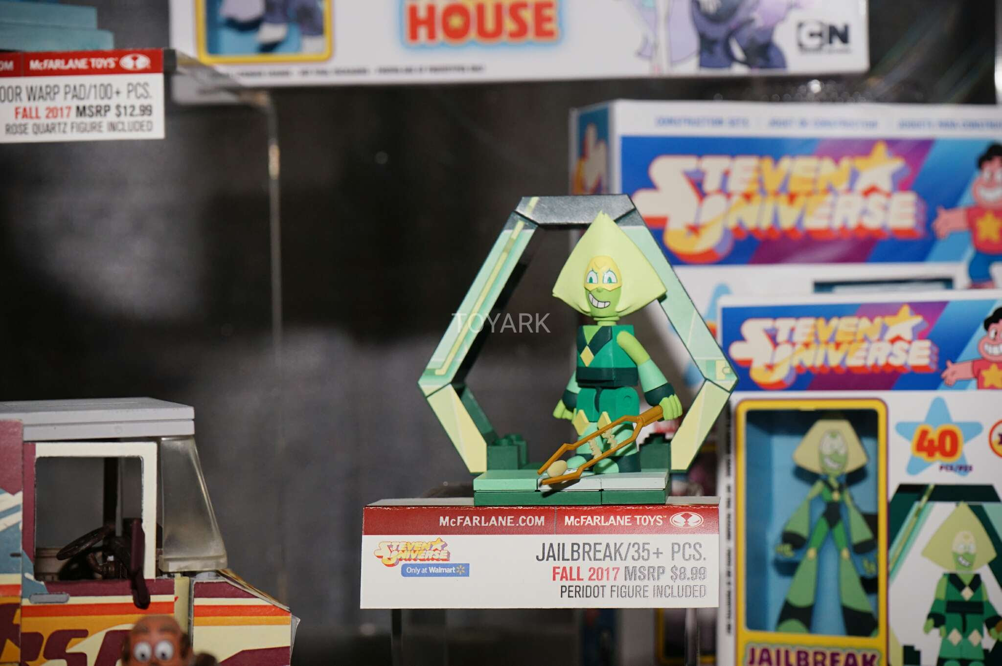 Also on display at Toy Fair 2017 was a slew of McFarlane Toys Building Sets. They had new items in existing licenses and some new licenses announced too! Included are: Five Night's at Freddy's South Park Steven Universe Rick and Morty You'll also notice some newly stylized figures with those sets. McFarlane adjusted some of the pieces to be more unique and allow them to look more accurate to their cartoon counterparts. See the photos after the jump.