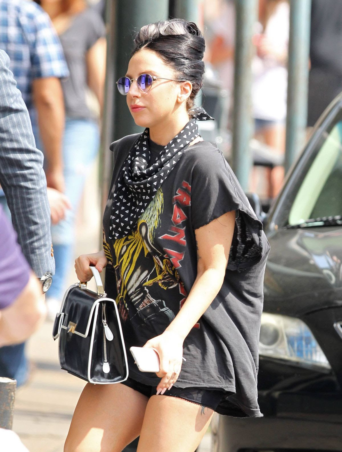 LADY GAGA Arrives at a Brunch in New Orleans