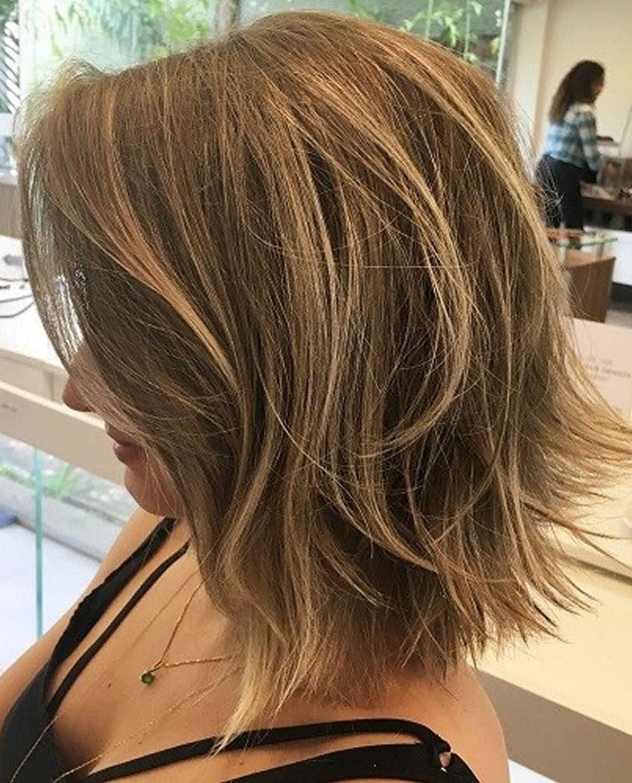 Layered  Long  Bob  Hairstyles  and Lob Haircuts  2019 HAIRSTYLES