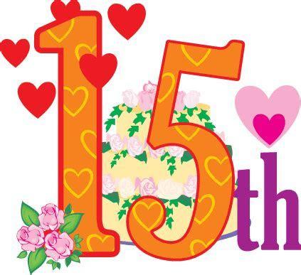 15 Anniversary Clipart