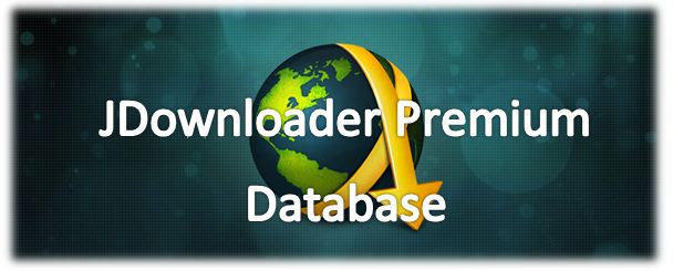 Account Premium E jDownloader Database.script Premium