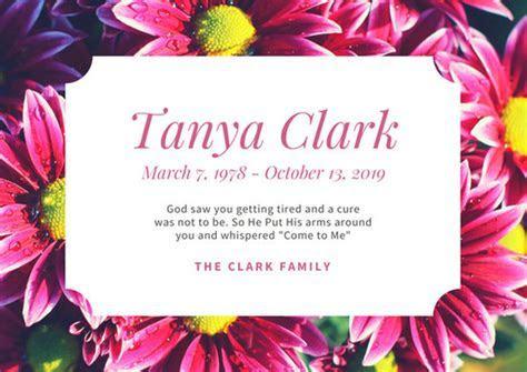 Black Simple Border Photo Obituary Card   Templates by Canva