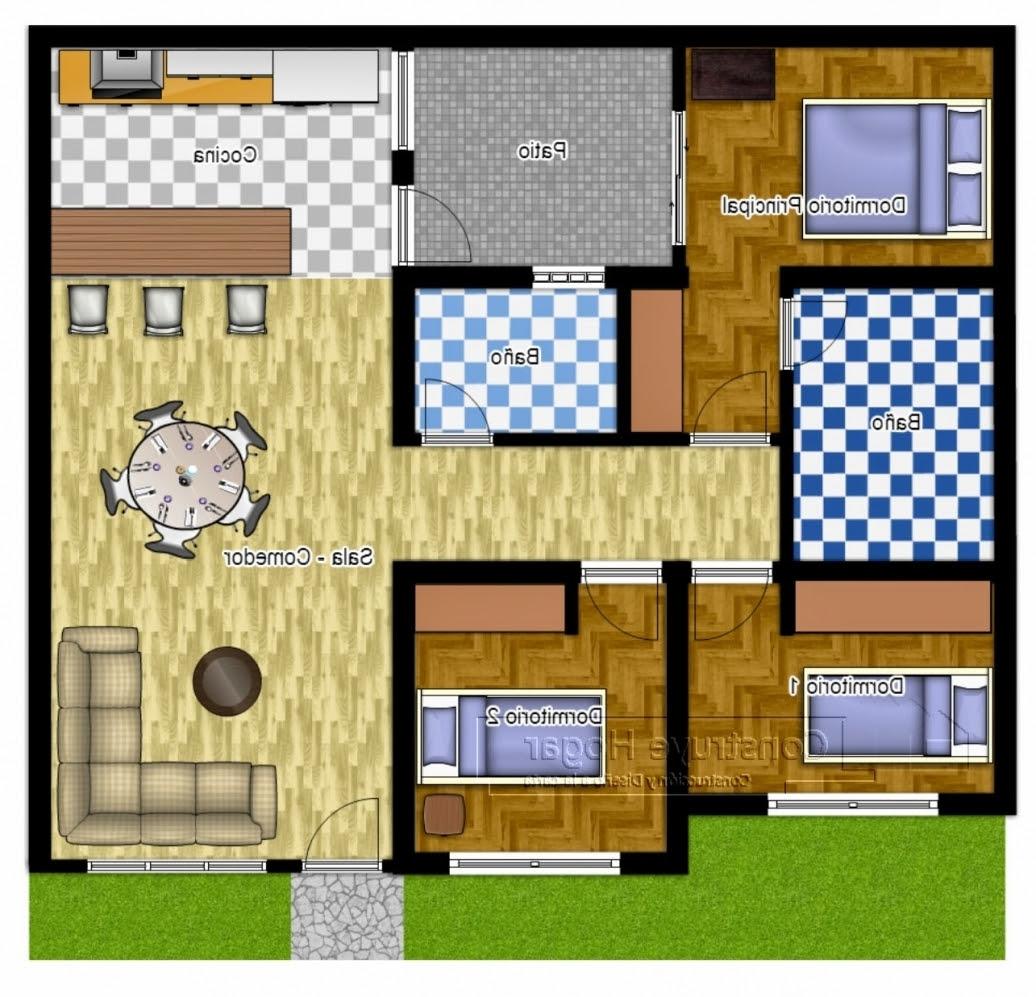 Denahrumahminimalis3kamartidur3 Di Denah Rumah Minimalis Type 45 3