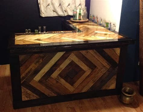 epic pallet bar ideas  transform  space   guy