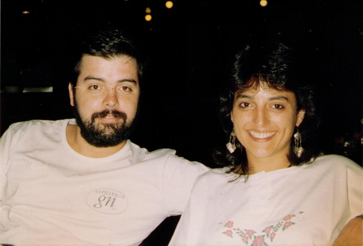 Me and Gaby in 1991