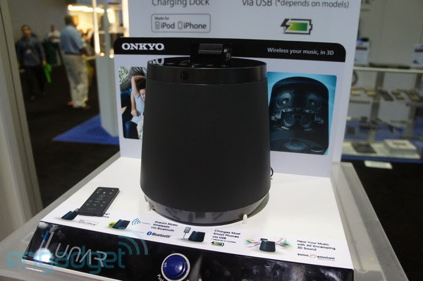 Onkyo shows off a few mini audio systems, one amp and Rokuready receivers