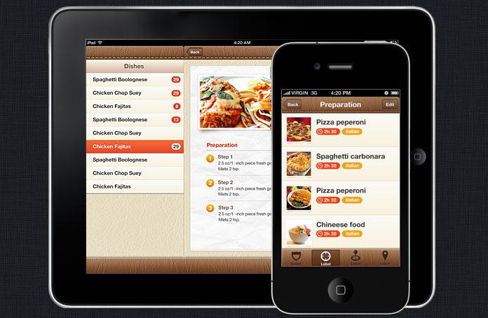 Foody iPhone and iOS App UI Design Templates