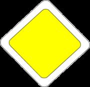 panneau signalisation jaune